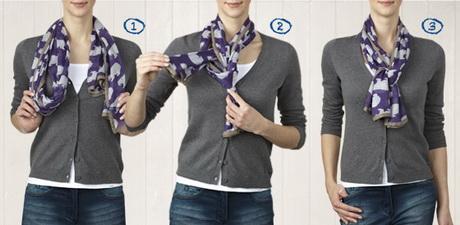 sjaal knopen vrouwen